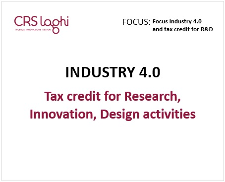 Focus Industry 4.0 and tax credit for R&D
