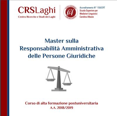 Master sulla Responsabilità Amministrativa delle Persone Giuridiche