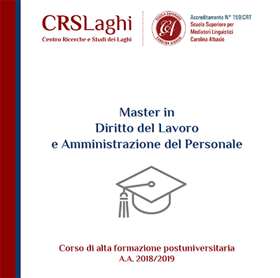 Master in Diritto del Lavoro e Amministrazione del Personale