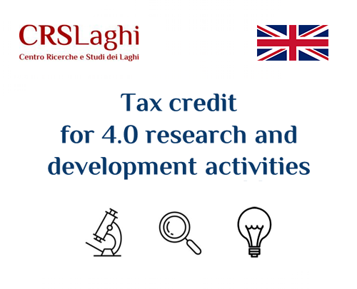 Tax credit for 4.0 research and development activities