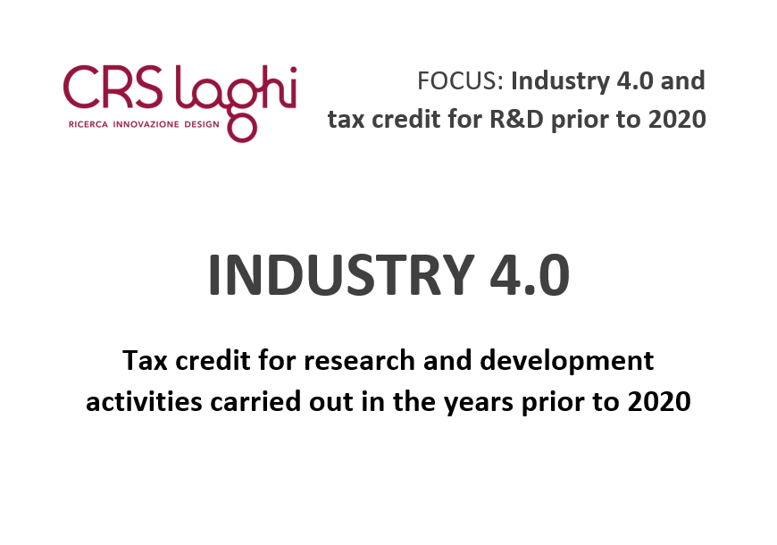 Focus Industry 4.0 and tax credit for R&D prior to 2020