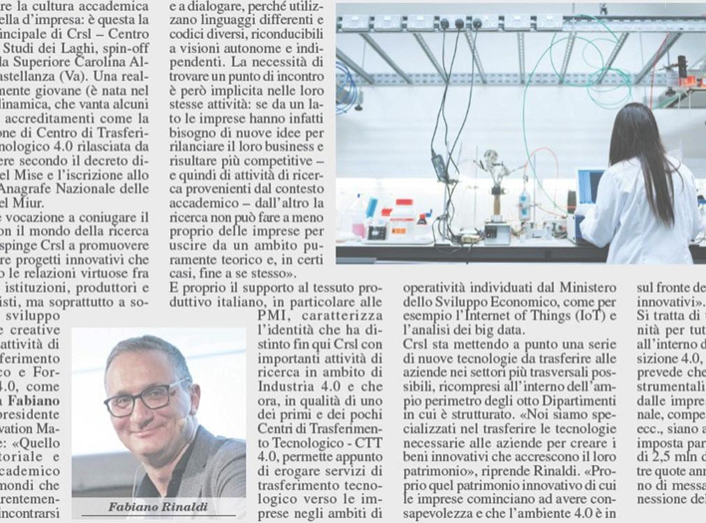 CRSL è su Milano Finanza