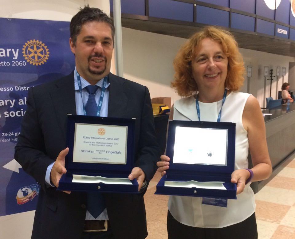 Sirio Cividino vince il Rotary Award per la Ricerca e l'innovazione